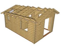 Návrh roubené stavby