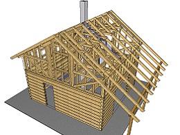 Roubená stavba z pilařského řeziva